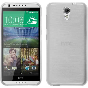 Silikonhülle für HTC Desire 620 brushed weiß