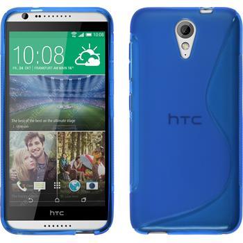 Silikon Hülle Desire 620 S-Style blau