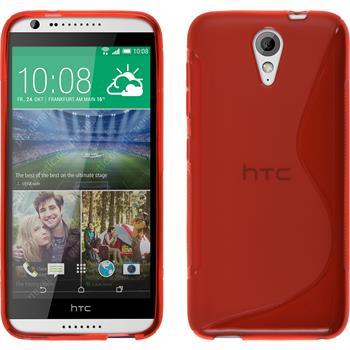 Silikonhülle für HTC Desire 620 S-Style rot