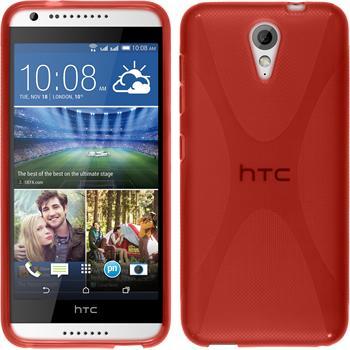Silikonhülle für HTC Desire 620 X-Style rot