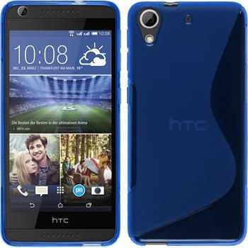 Silikon Hülle Desire 626 S-Style blau