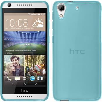 Silikonhülle für HTC Desire 626 transparent türkis