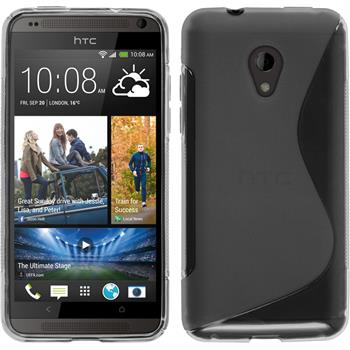 Silicone Case for HTC Desire 700 S-Style gray