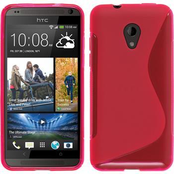 Silikonhülle für HTC Desire 700 S-Style pink