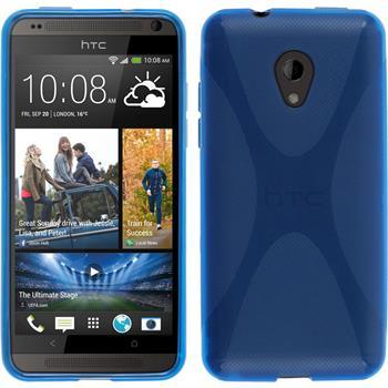 Silikon Hülle Desire 700 X-Style blau