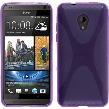 Silicone Case for HTC Desire 700 X-Style purple