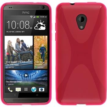 Silicone Case for HTC Desire 700 X-Style hot pink