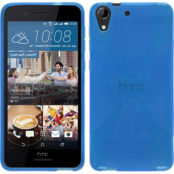 Silikon Hülle Desire 728 X-Style blau