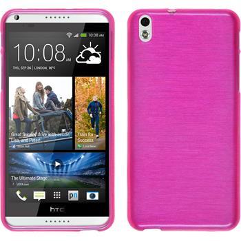 Silikon Hülle Desire 816 brushed pink