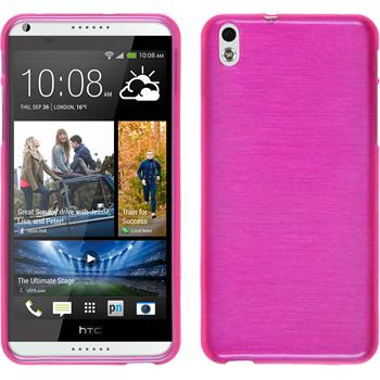Silikonhülle für HTC Desire 816 brushed pink