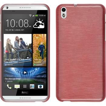 Silicone Case for HTC Desire 816 brushed pink