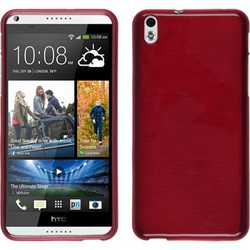 Silicone Case for HTC Desire 816 brushed red