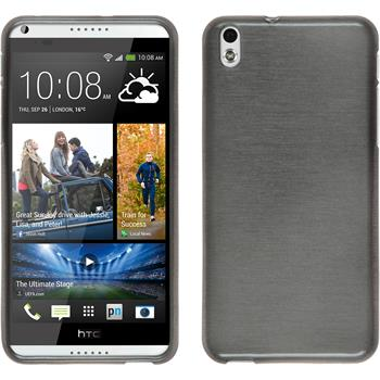 Silicone Case for HTC Desire 816 brushed silver