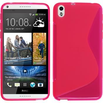 Silicone Case for HTC Desire 816 S-Style hot pink