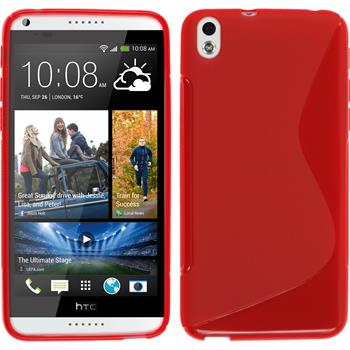 Silicone Case for HTC Desire 816 S-Style red