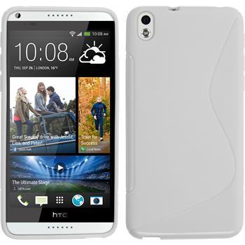 Silicone Case for HTC Desire 816 S-Style white