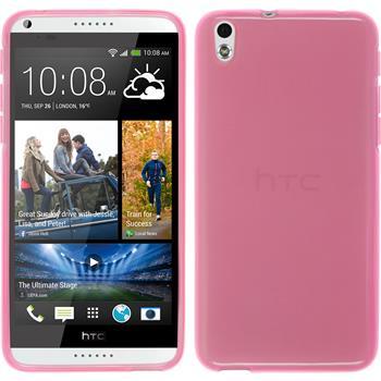 Silikonhülle für HTC Desire 816 transparent rosa