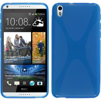 Silikon Hülle Desire 816 X-Style blau