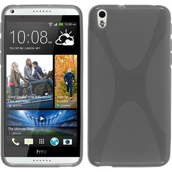 Silicone Case for HTC Desire 816 X-Style gray