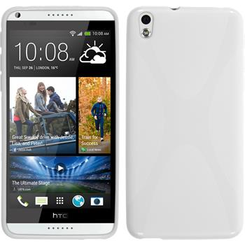 Silicone Case for HTC Desire 816 X-Style white