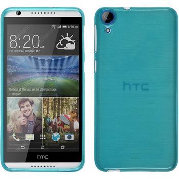Silikon Hülle Desire 820 brushed blau