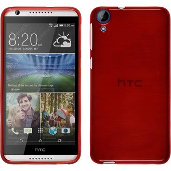 Silikonhülle für HTC Desire 820 brushed rot
