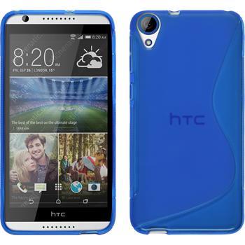 Silikon Hülle Desire 820 S-Style blau