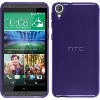 Silikonhülle für HTC Desire 820 transparent lila