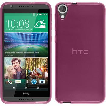 Silikonhülle für HTC Desire 820 transparent rosa