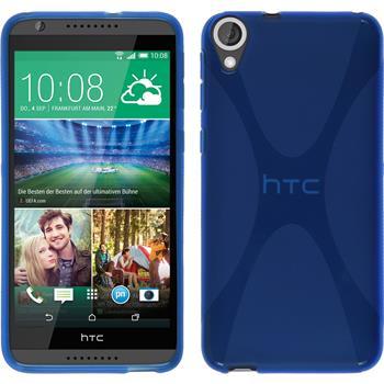 Silikon Hülle Desire 820 X-Style blau