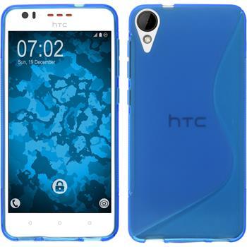 Silikon Hülle Desire 825 S-Style blau