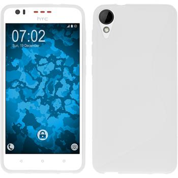 Silikonhülle für HTC Desire 825 S-Style weiß