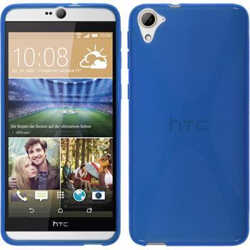 Silikon Hülle Desire 826 X-Style blau