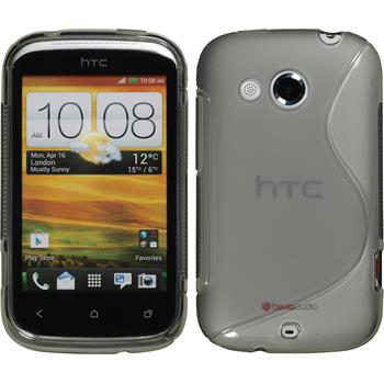 Silicone Case for HTC Desire C S-Style gray