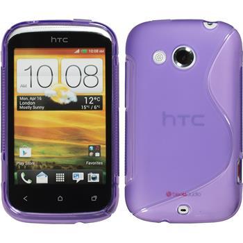 Silicone Case for HTC Desire C S-Style purple