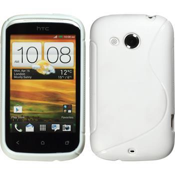 Silikonhülle für HTC Desire C S-Style weiß