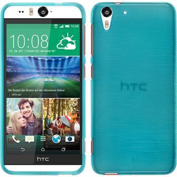 Silikonhülle für HTC Desire Eye brushed blau
