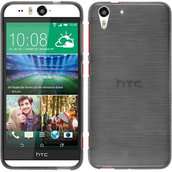Silikonhülle für HTC Desire Eye brushed silber