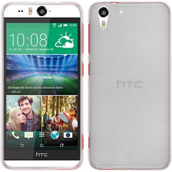 Silikonhülle für HTC Desire Eye brushed weiß