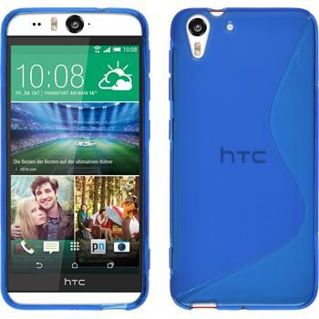 Silikon Hülle Desire Eye S-Style blau
