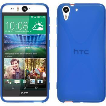 Silikon Hülle Desire Eye X-Style blau