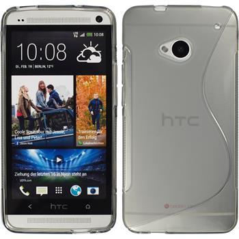 Silikonhülle für HTC One S-Style grau