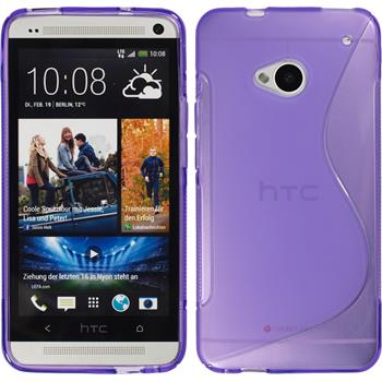 Silicone Case for HTC One S-Style purple
