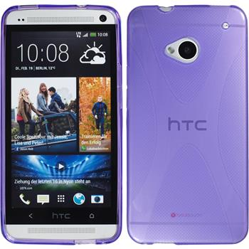 Silicone Case for HTC One X-Style purple