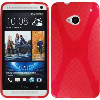 Silicone Case for HTC One X-Style red
