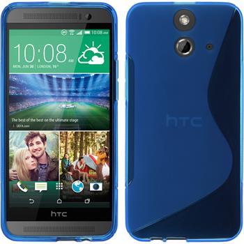 Silikon Hülle One E8 S-Style blau + 2 Schutzfolien