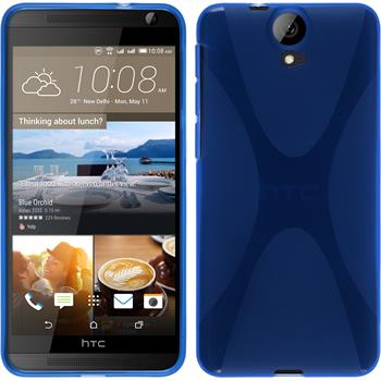 Silikonhülle für HTC One E9+ X-Style blau
