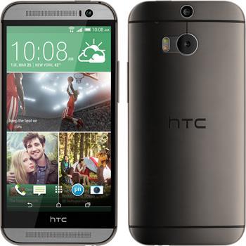 Silikonhülle für HTC One M8 Slimcase grau