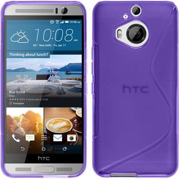 Silikonhülle für HTC One M9 Plus S-Style lila