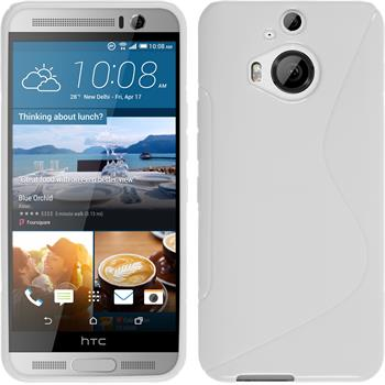 Silikon Hülle One M9 Plus S-Style weiß